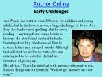 author online