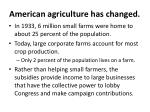american agriculture has changed