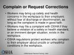complain or request corrections