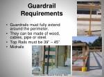guardrail requirements
