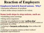 reaction of employers
