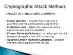 cryptographic attack methods