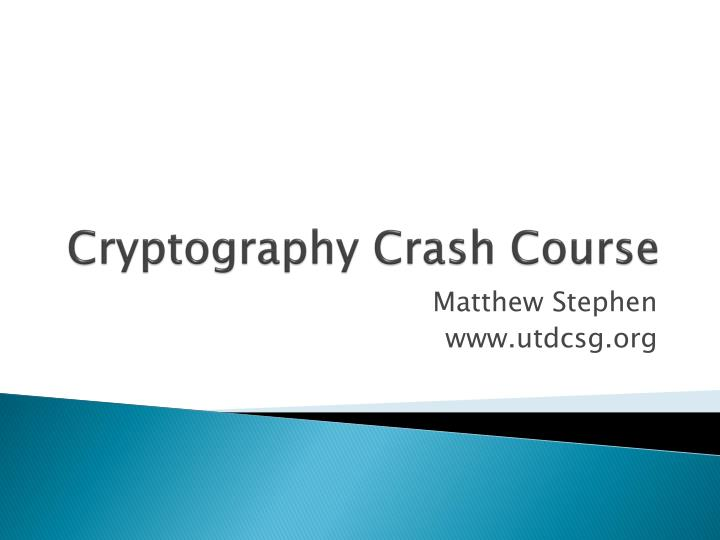 cryptography crash course n.