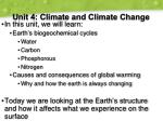 unit 4 climate and climate change