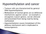 hypomethylation and cancer