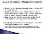 insulin resistance metabolic syndrome