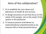 aims of the collaborative2