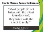 how to measure person centredness