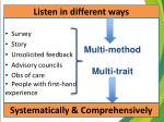 listen in different ways