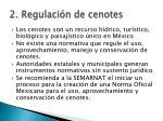 2 regulaci n de cenotes