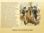 funding the continental army