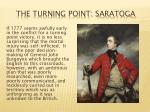 the turning point saratoga
