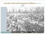lincoln s second inaugural address march 4 1865