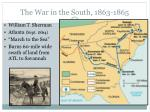 the war in the south 1863 1865
