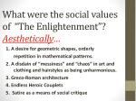 what were the social values of the enlightenment aesthetically