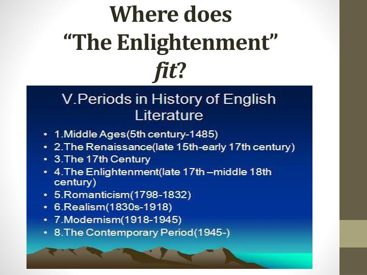 history the enlightenment period