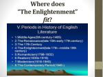 where does the enlightenment fit
