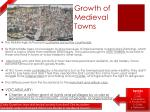 growth of medieval towns