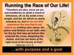 running the race of our life