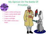 my opinion on t he b attle o f princeton