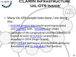 clarin infrastructure uil ots inside