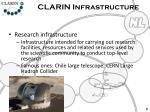 clarin infrastructure2