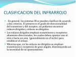 clasificacion del infrarrojo