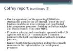 coffey report continued 2