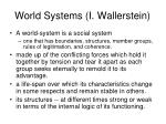 world systems i wallerstein