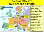 italy and germany two divided nations