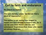 call to faith and endurance100