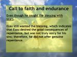 call to faith and endurance101