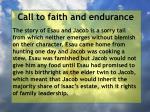 call to faith and endurance102