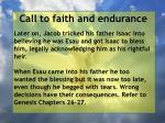 call to faith and endurance103
