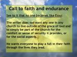call to faith and endurance104