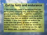 call to faith and endurance105