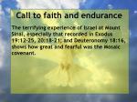 call to faith and endurance106