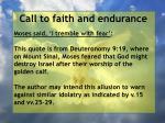 call to faith and endurance107