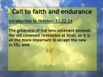 call to faith and endurance108