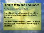 call to faith and endurance112