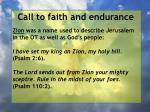 call to faith and endurance114