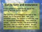 call to faith and endurance115