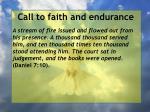 call to faith and endurance118