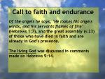 call to faith and endurance120