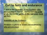 call to faith and endurance122
