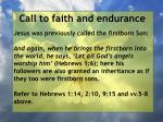 call to faith and endurance123