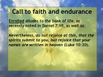 call to faith and endurance124