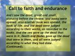 call to faith and endurance126