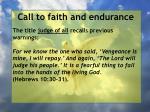 call to faith and endurance128