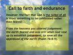 call to faith and endurance129